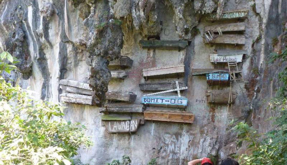 Die hängenden Särge von Sagada auf der Insel Luzon, Philippinen