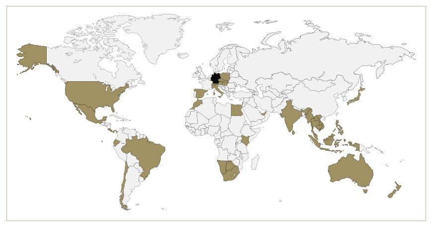 Ansicht einer Weltkarte